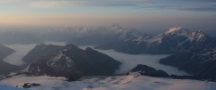 View north from the slopes of Mt Elbrus