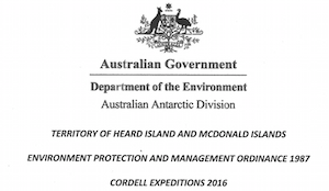Rules of Engagement – Our Permit to Land on Heard Island