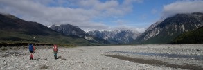 Just west of Klondyke corner, on the Waimakariri river - the 3 Passes Route all ahead of us!