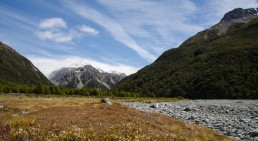 """On the """"Waimak"""", about an hour out from Carrington hut."""
