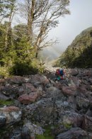 Just starting the climb to Harman Pass.
