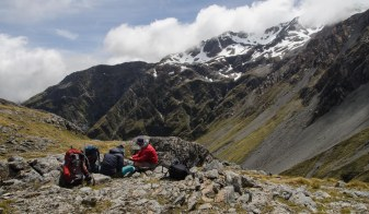 Lunch spot on Browning Pass. Not a bad place to take a break